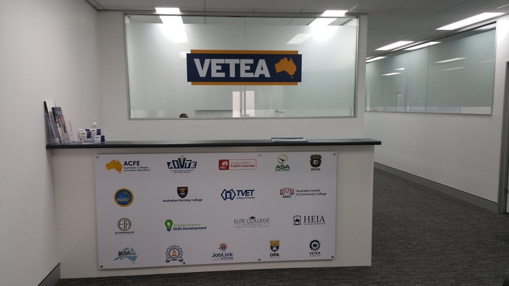 Latest News Front desk signage and frosting
