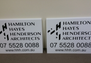 black vinyl corflute building signs