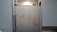 Frosted Vinyl on Entrance Door