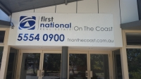 First National- Alucobond Vinyl Sign