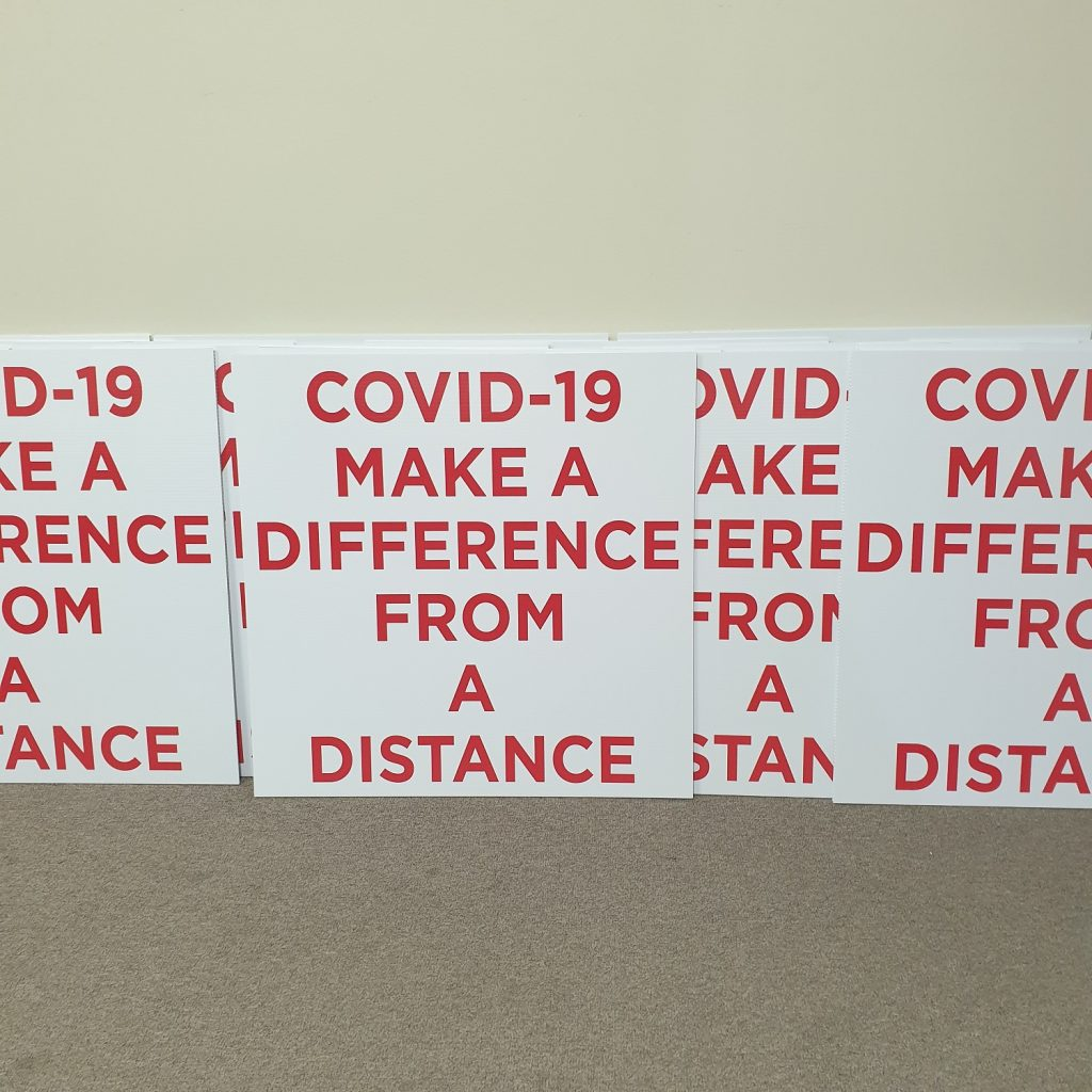 Covid-19 Corflute Signs